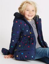 Marks and Spencer All Over Print Faux Fur Coat with StormwearTM (3 Months - 7 Years)