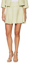 BCBGeneration Cotton Tweed Striped Mini Skirt