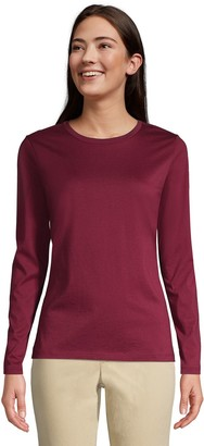 Lands' End Women's Relaxed Supima Cotton Crewneck T-Shirt