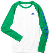 adidas Boys 8-20) Long Raglan Sleeve Climalite Logo Shirt