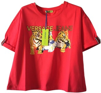 Versace Red Cotton Knitwear for Women