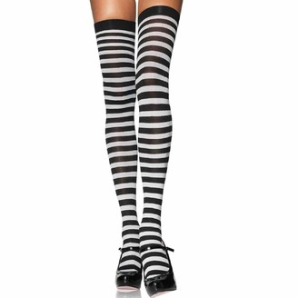 Leg Avenue Women's Plus-Size Plus Nylon Striped Stockings