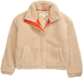 Treasure & Bond Kids' Faux Shearling Teddy Cozy Jacket