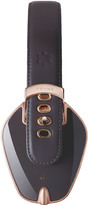 Pryma Rose Gold & Dark Grey Leather Headphones