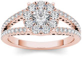 MODERN BRIDE 1 CT. T.W. Diamond 10K Rose Gold Engagement Ring