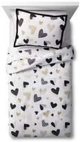 Circo Hello Hearts Comforter Set - Black&White - Pillowfort