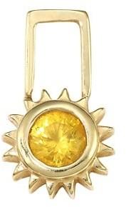 Robinson Pelham EarWish 14K Yellow Gold & Yellow Sapphire Sun Single Earring Charm