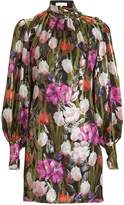 Borgo de Nor Lima Metallic Silk Mini Dress