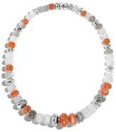 John Hardy Bamboo Moonstone Beaded Necklace with Gray Diamonds