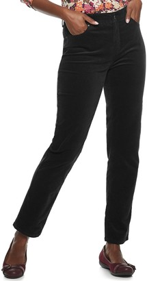 Croft & Barrow Women's Straight-Leg Corduroy Pants