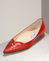 Lychee Pointed-Toe Flat