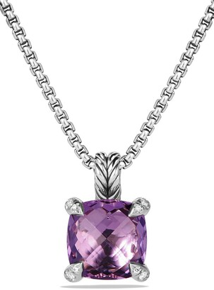 David Yurman Chatelaine Pendant Necklace with Semiprecious Stone & Diamonds