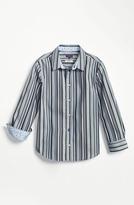 Paul Smith Regular Fit Dress Shirt (Little Boys & Big Boys) Blue 8