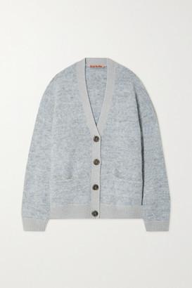 Acne Studios - Oversized Melange Knitted Cardigan - Sky blue