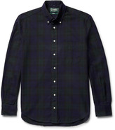 Gitman Brothers Button-Down Collar Black Watch Checked Cotton Oxford Shirt