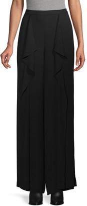 BCBGMAXAZRIA Ruffled Wide-Leg Pants
