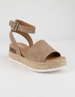 Soda Sunglasses Topic Natural Womens Espadrille Flatform Sandals