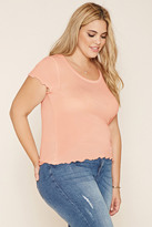 Forever 21 FOREVER 21+ Plus Size Ruffled Tee