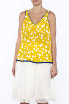 Esley Polka Dot Sleeveless Top