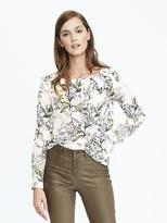 Banana Republic Asymmetrical Pleated Top
