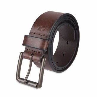 Dockers Casual Leather Belt - 100% Soft Top Grain Genuine Leather Strap with Classic Prong Buckle