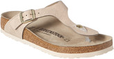 Birkenstock Women's Gizeh Washed Metallic Leather Sandal