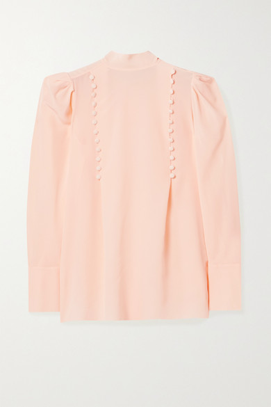 Thumbnail for your product : Givenchy Button-detailed Silk-georgette Blouse - Blush