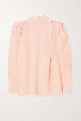 Givenchy Button-detailed Silk-georgette Blouse - Blush