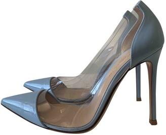Gianvito Rossi Plexi Blue Plastic Heels