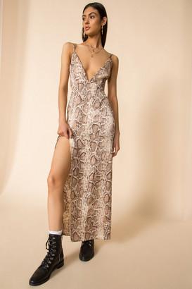 superdown Amina Slit Maxi Dress