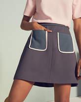 Ted Baker Colour Block Pocket Skirt Mid Grey