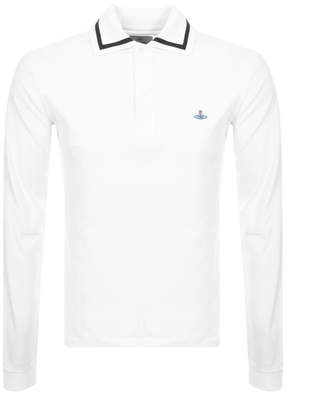 Vivienne Westwood Long Sleeve Polo T Shirt White