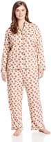 White Orchid Women's Plus-Size Peppermint Twist Plus Pajama Set