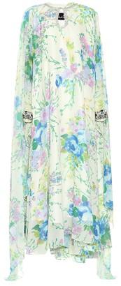 Richard Quinn Embellished floral georgette dress