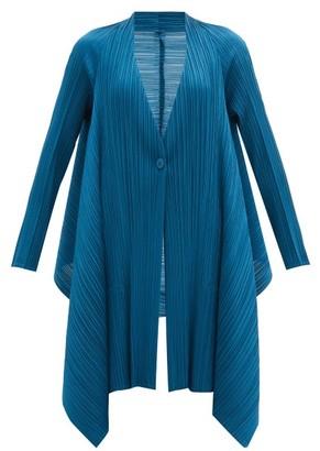 Pleats Please Issey Miyake Single-breasted Technical-pleated Jacket - Blue