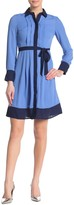 Nanette Lepore Nanette Colorblock Shirt Dress