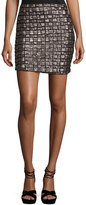 Goldie London Night Fever Sequined Pencil Skirt, Gray