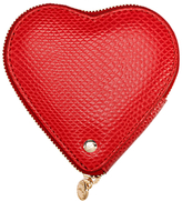 Aspinal of London Leather Heart Coin Purse, Berry Red
