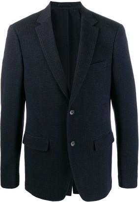 Salvatore Ferragamo Tonal Houndstooth Blazer Jacket