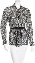 Maison Margiela Silk Floral Print Top