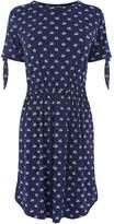 Warehouse Swan Print Channel Dress