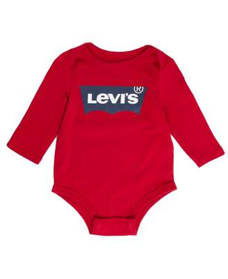 Levi's Kids Long Sleeved Logo Body Suit Colour: RED, Size: 6 Mont