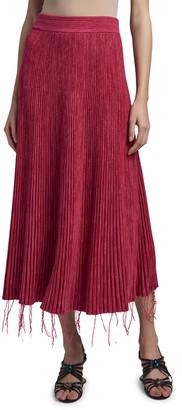 Marni Fringed Bottom Midi Skirt