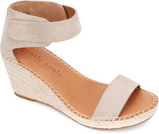 Gentle Souls By Kenneth Cole Charli Ankle Strap Suede Wedge Sandal