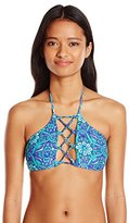 O'Neill Women's Majestic High Neck Halter Bikini Top