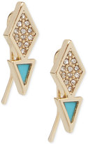 Vera Bradley Gold-Tone Pavé & Blue Enamel Geometric Drop Earrings