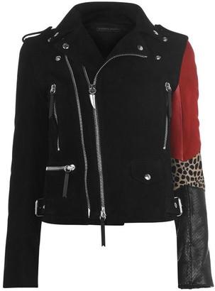 Giuseppe Zanotti Amelia Feline Leather Jacket