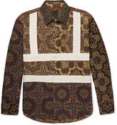 Craig Green Panelled Printed Cotton Shirt - Brown