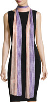 Missoni Long Striped Netted Scarf, Multicolor