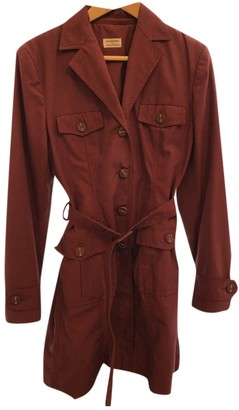 Philosophy di Alberta Ferretti Burgundy Cotton Trench Coat for Women